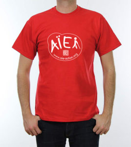 Photo recto tee-shirt Aïe rouge