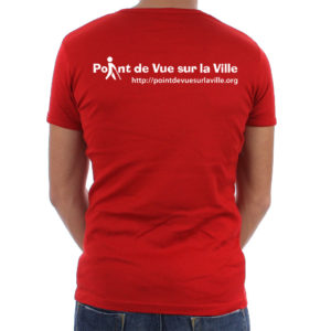 Photo verso tee-shirt Aïe rouge